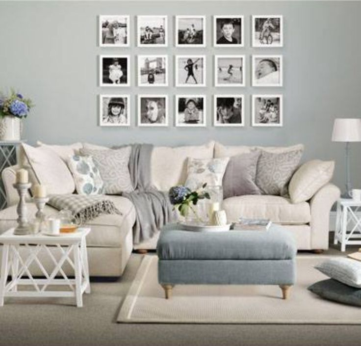 Easy makeover for a room. Just add pictures to the wall