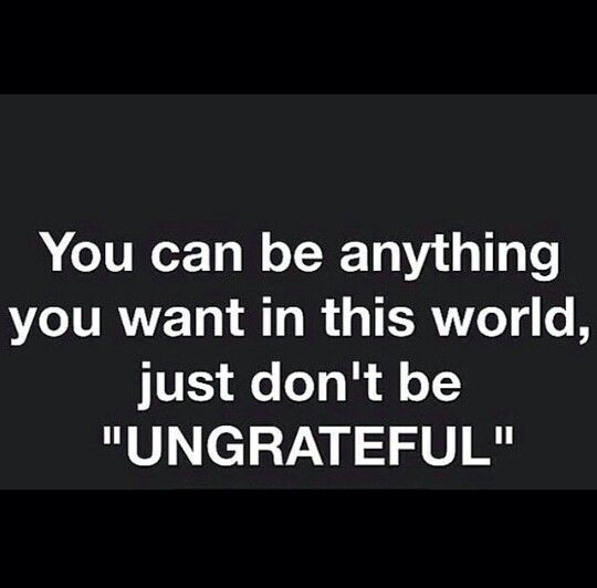 .I agree with this. There are so many people that feel entitled! A simple Thank you would be nice!