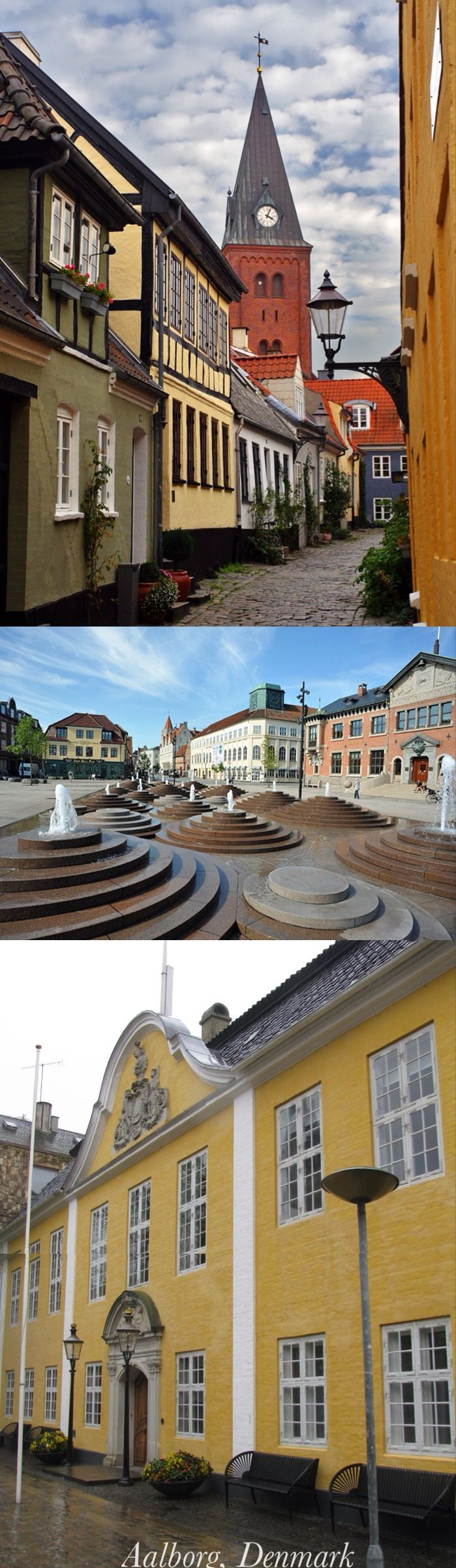 Aalborg. I Got married in the yellow building in the last picture. Aalborg rådhus.