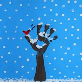 "Finger painting: Winter Tree... Follow for Free ""too-neat-not-to-keep"" teaching tools & other fun stuff :)"