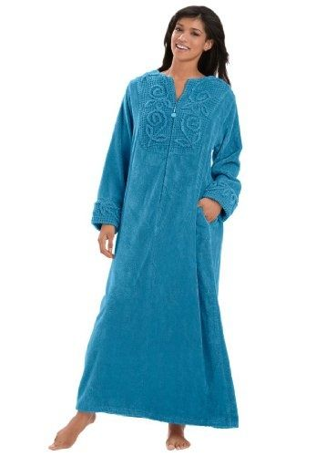 chenille robes | Long chenille robe | FASHION STYLES