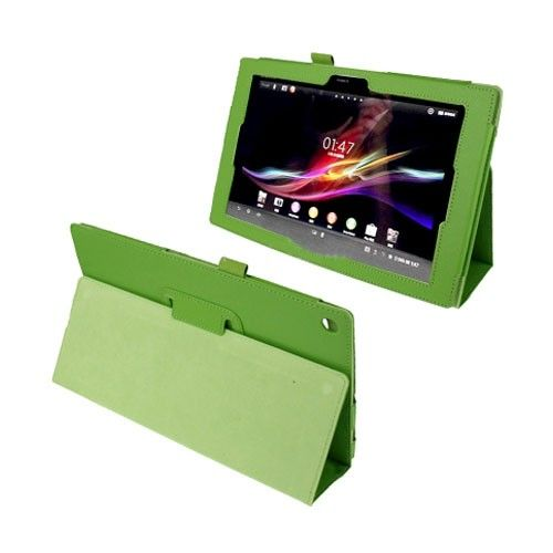 Simple (Green) Sony Xperia Tablet Z 10.1 Leather Flip Case
