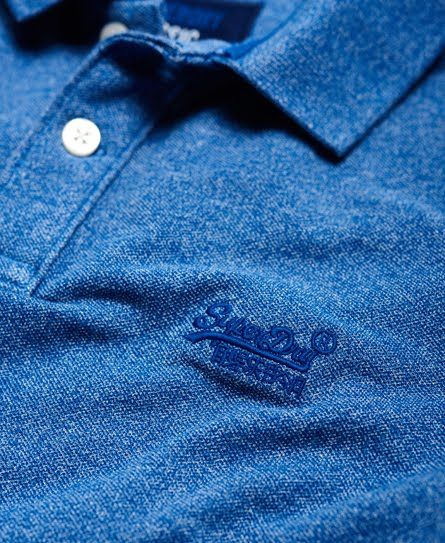 Superdry Polo Vintage Destroyed Bleu