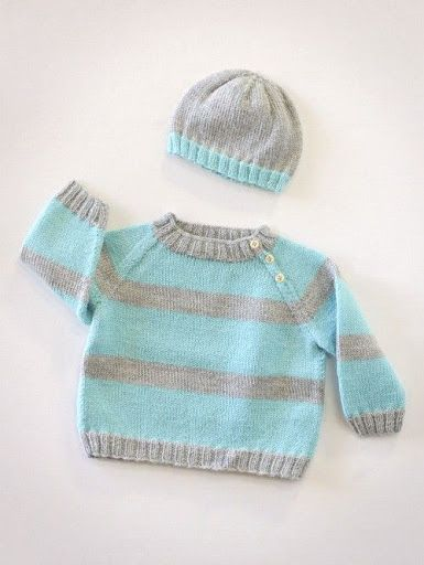 baby sweater and hat knitting patterns?