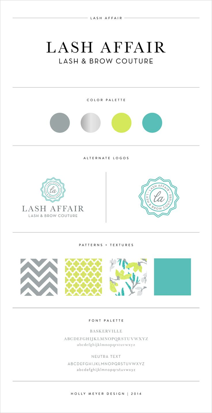 Lash Affair Brand Board