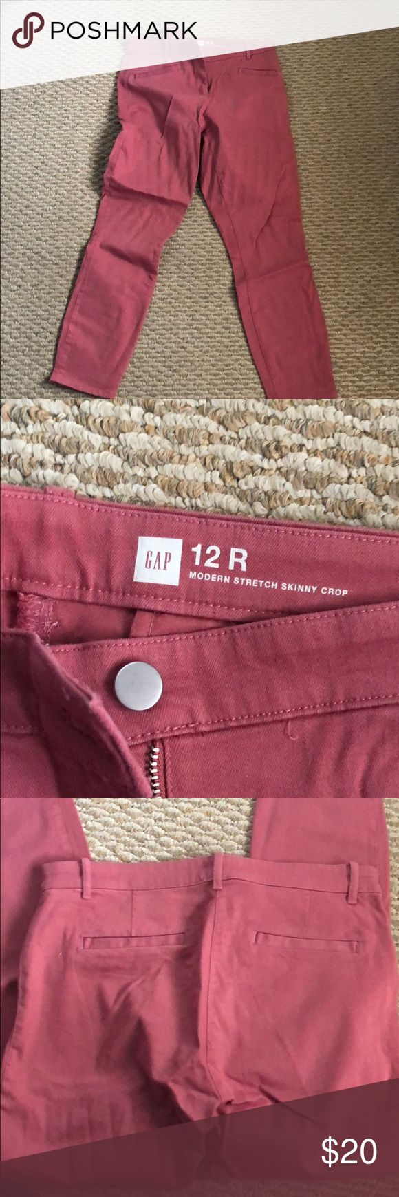 Like new salmon pants from the gap 12R Like new jeans from the gap. Pretty color for year round. 12 R with stretch GAP Pants