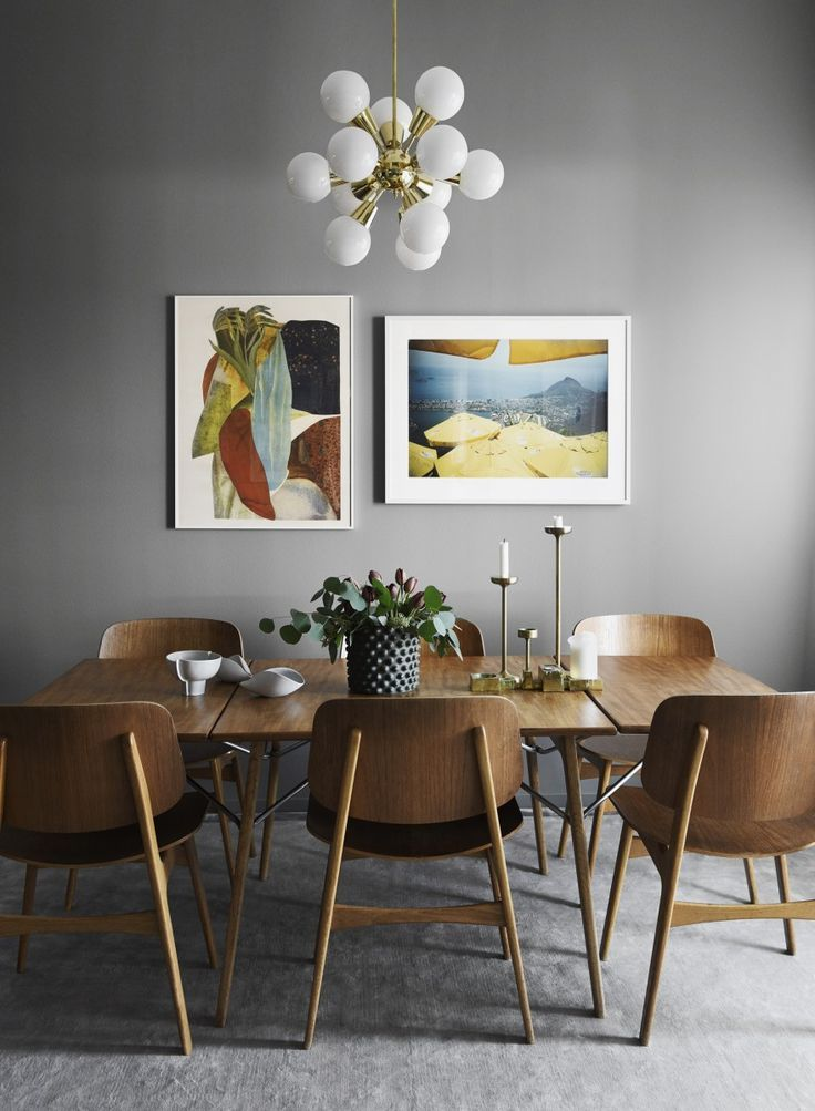 Sborg Chairs With Wooden Frame Designed By Brge Mogensen In 1950 Styling Anna Mrselius