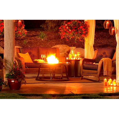 """48"""" Granite Fire Pit Table"""