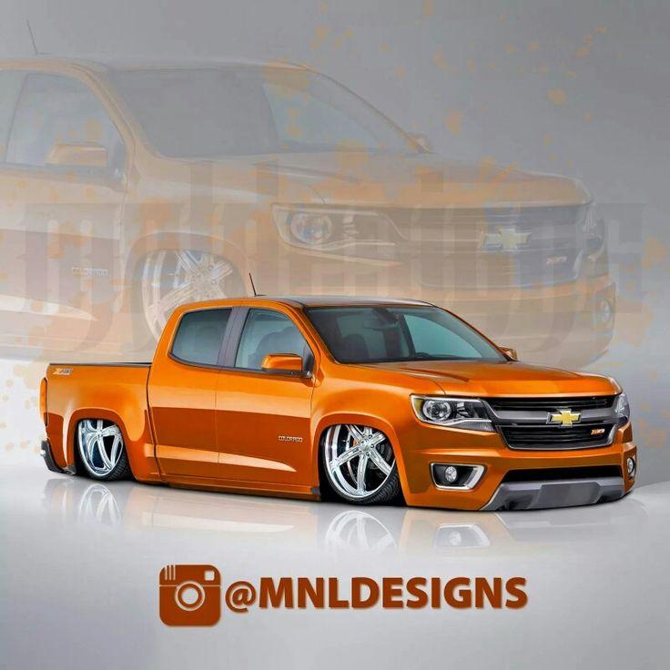 2015 Chevy colorado bagged. Nice!
