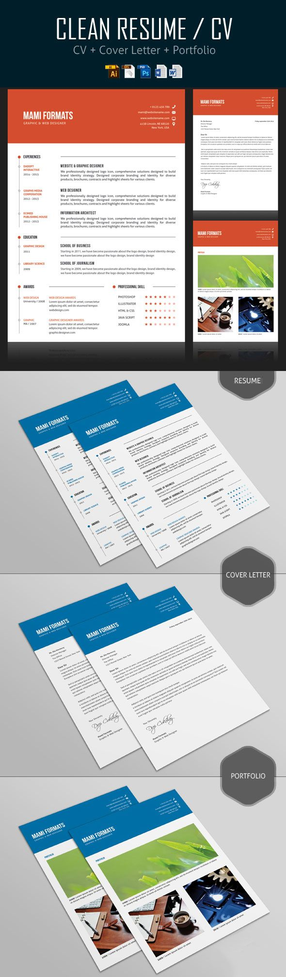 Simple CVResume  Cover Letter Design