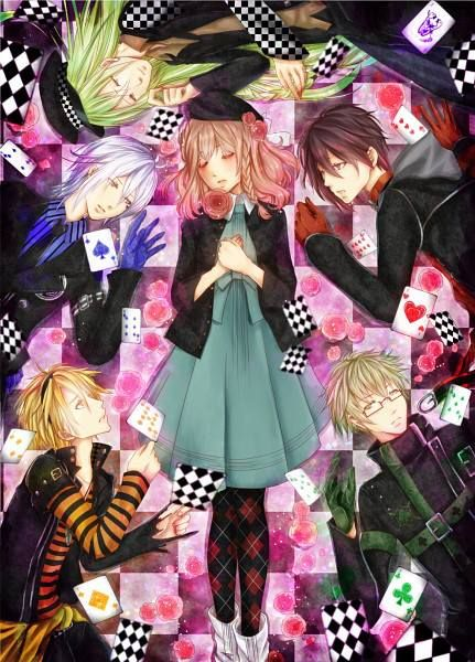 Amnesia (Anime)- I watched this because I was attracted to the way they were drawn (I saw the colour of their eyes) and to the idea of parallel worlds. It's a reverse harem, based on an otome game. Confusing at times but worth it in the end :x