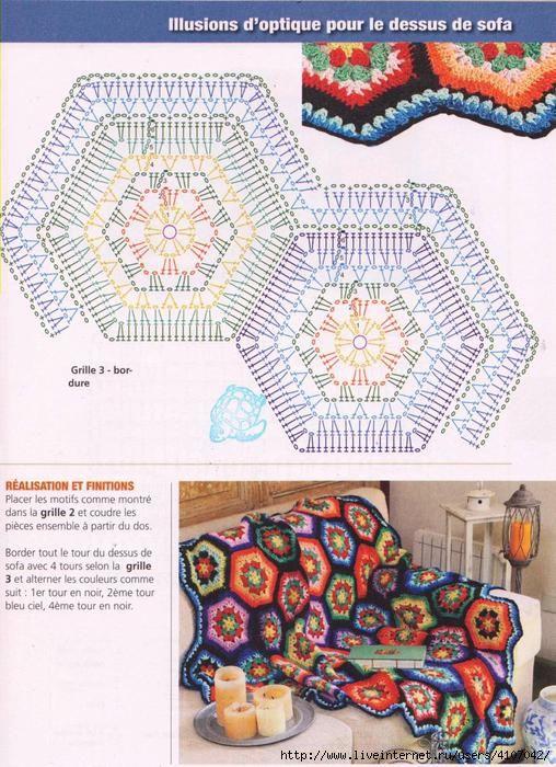 7819 best Вязание images on Pinterest | Crochet blankets, Crochet ...