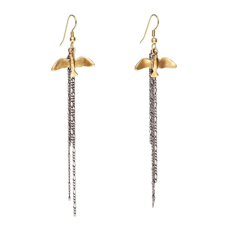 soaring birds earrings. alkemie.