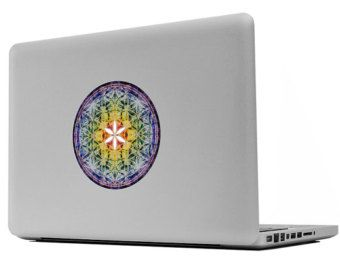 Sacred Geometry, Flower of Life Sticker, LUX , Mandala, Chakra, Prana, Apple, Macbook, Decal, Nature, Photography