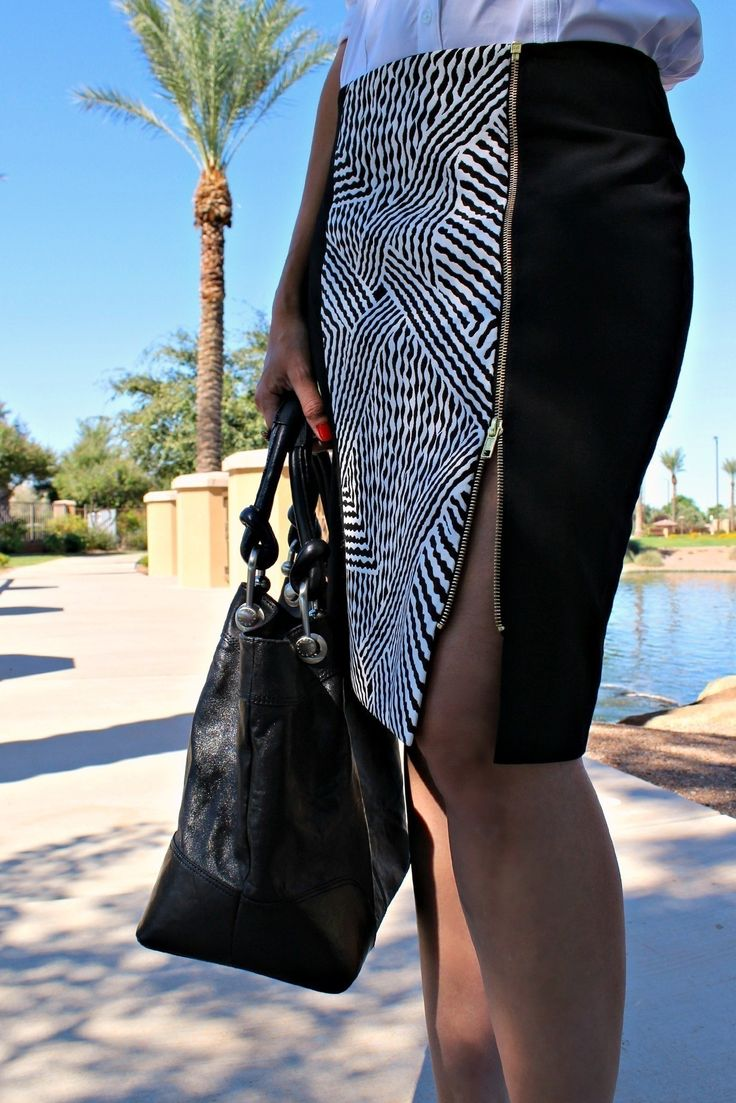 A Pinterest Inspired Diy: How To Refashion Your Little Black Skirt  •  Free tutorial with pictures on how to make a pencil skirt in under 120 minutes