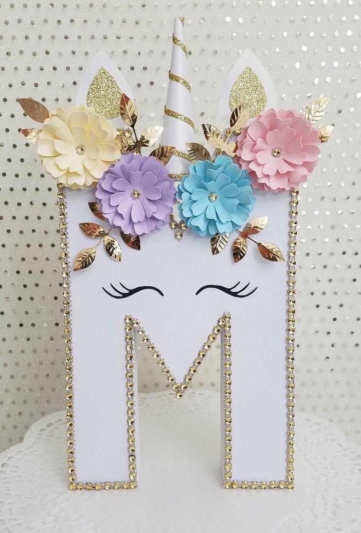 Unicorns, Unicorn Party, Unicorn Birthday, Birthday gift, Personalized gift, Baby shower, Unicorn photo prop, Home decor, Unicorn letters
