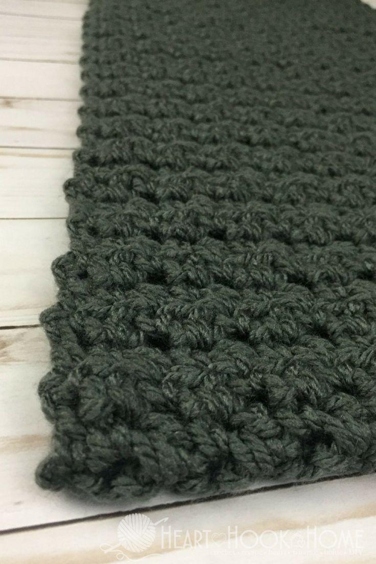 Einfacher Schal Für Männer Gratis Häkelanleitung Häkeln Ideen