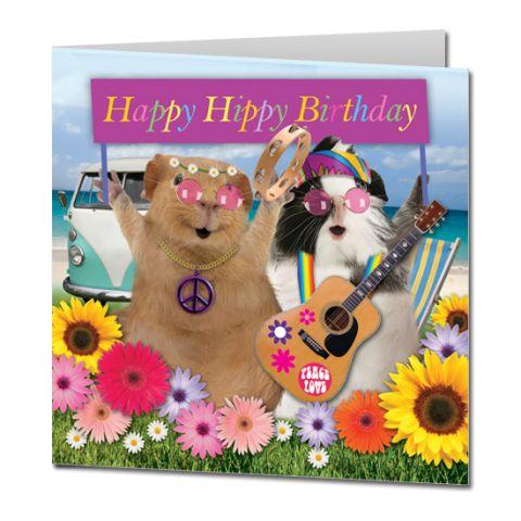 Kartka urodzinowa Happy Hippies