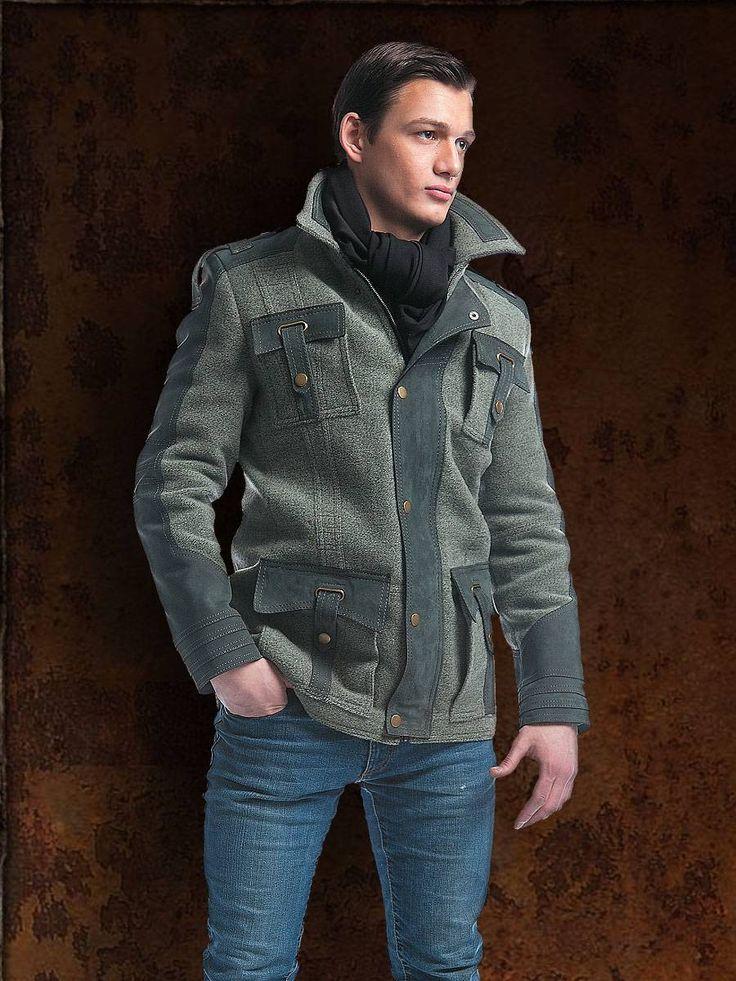 Зимняя мужская куртка в стиле милитари   Готическая одежда, магазин неформальной одежды, стимпанк одежда, одежда для готов, готический магазин, рок магазин