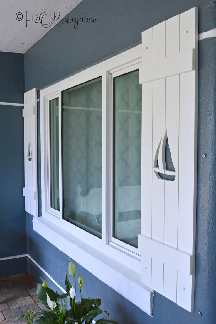 How To Make Diy Shutters With Sailboat Cutouts Diy Shutters Exterior Shutters Diy Shutters Exterior