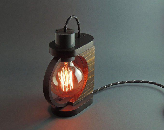 Desk Lamp Lp 2 A Table Lamp Steampunk Lamp Wooden Lamp Edison