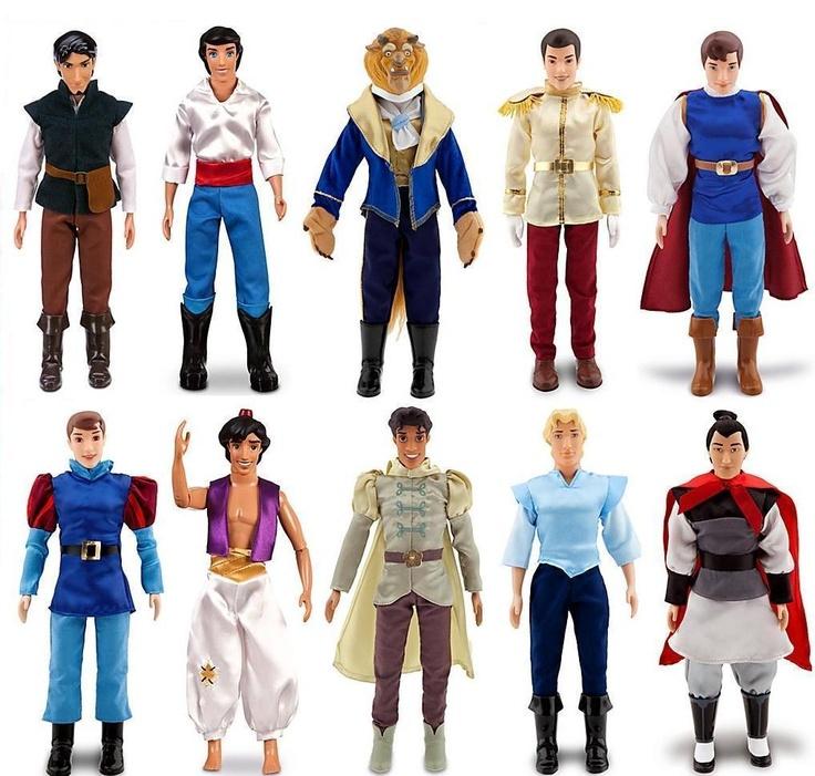Disney 10 Classic Princess 10 Prince Doll Collection Barbie Ken Set Rapunzel | eBay