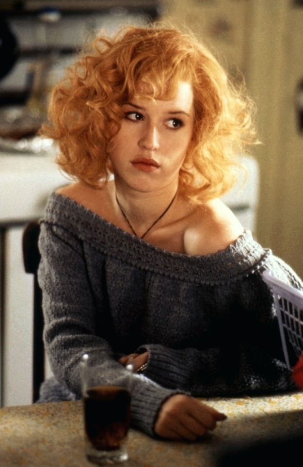 "As a Kentucky backwoods girl in this weird (and poorly performing) 1988 film, ""Fresh Horses."" But her hair looked so amazing. 