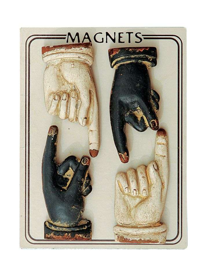 Aurelia Pewter Hand Shaped Magnets Set of 4