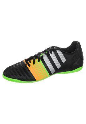 NITROCHARGE 4.0 - Chaussures de foot en salle - black/metallic silver/gold