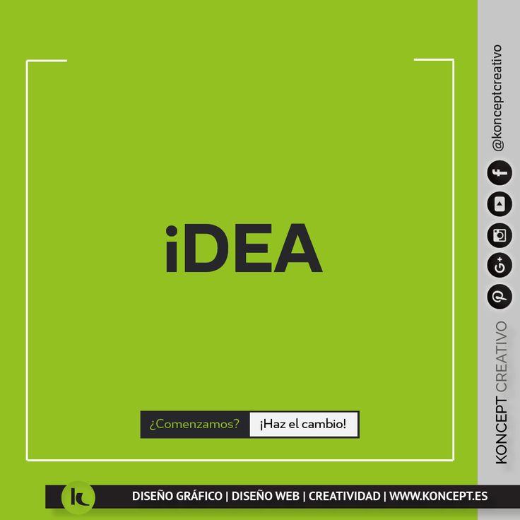 1. Primero y más obvio de los actos del entendimiento, que se limita al simple conocimiento de algo. 2. Imagen o representación que del objeto percibidoqueda en la mente. Su idea no se borra jamás de mimente. 3. Ingenio para disponer, inventar y trazar una cosa. #ideas #idea #profesional #concepto #simplicidad #metas #objectivos #empresa #negocio #autonomo #emprendedores #palabra #diseñoweb #diseñografico #diseñograficobarcelona #graphicdesigner #creatividad #publicidad #calidad #imagen