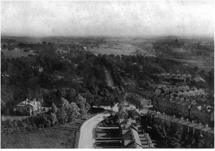 South Road, Lancaster. Taken from the top of a chimney at White Cross Mills.