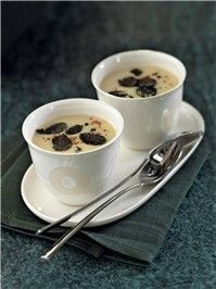 Crema de alubias blancas con trufa negra
