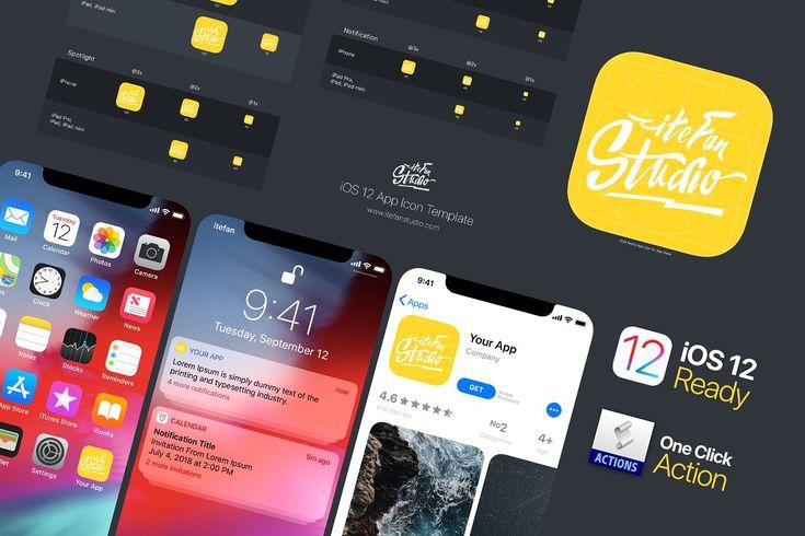 Ios 12 App Icon Template App Icon App Templates