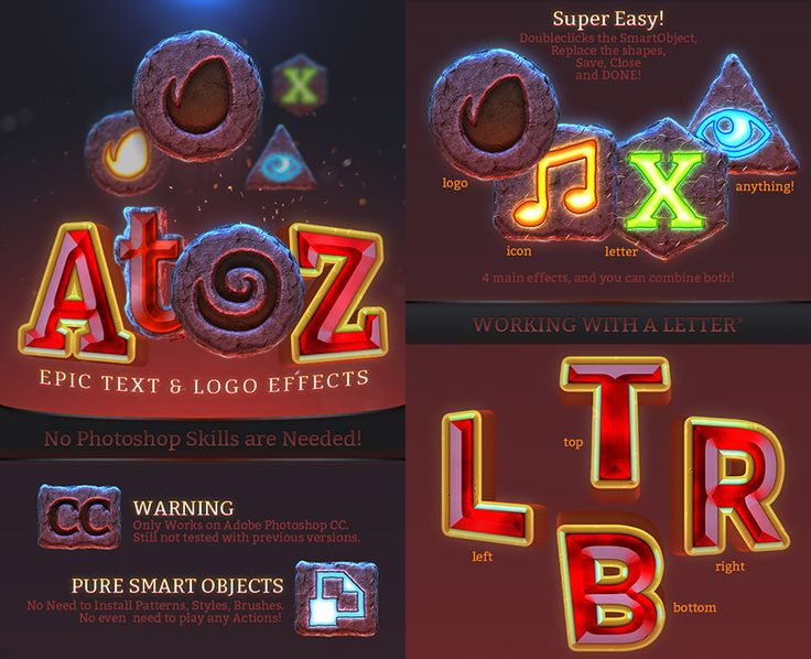 Epic PSD Text Logo Effect Game Style