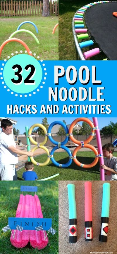 32 Pool Noodle Hacks, games and activities. There are so many cool things to do with pool noodles, create something new this summer with these pool noodle ideas.