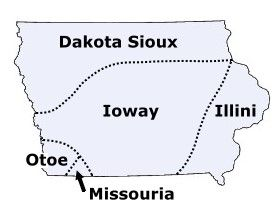 The Native American Tribes of Iowa by native-languages.org #Iowa #Native_Tribes