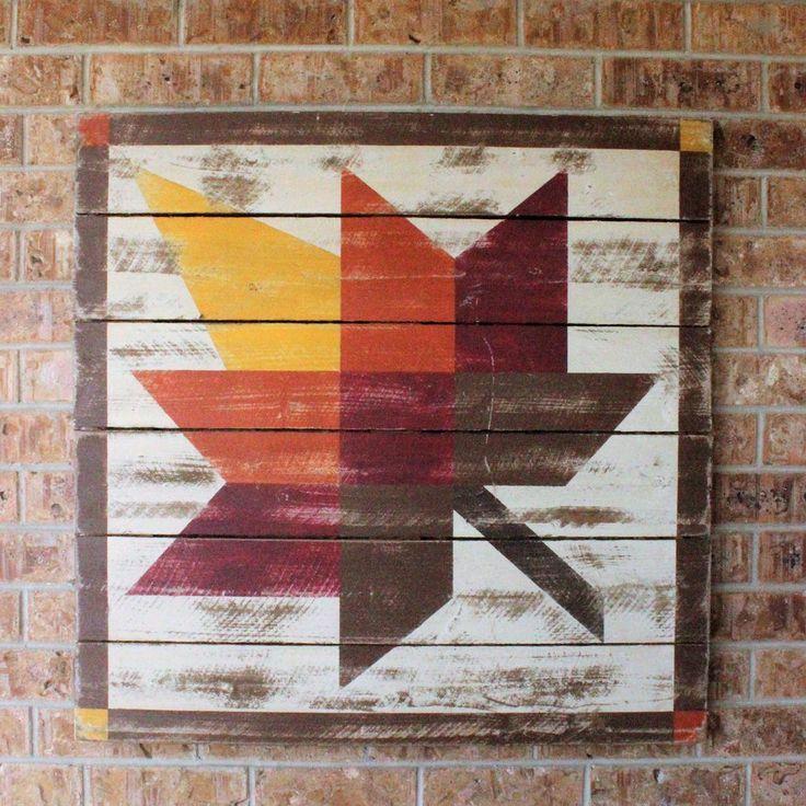 Image of Maple Leaf Barn Quilt