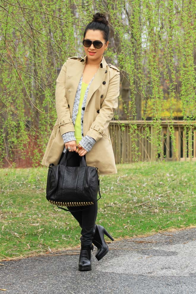 Toughening  a Trench Coat with some Leather.   - Everyone. I just got some new shoes and a nice dress from here for CHEAP! Check out the amazing sale. http://www.superspringsales.com
