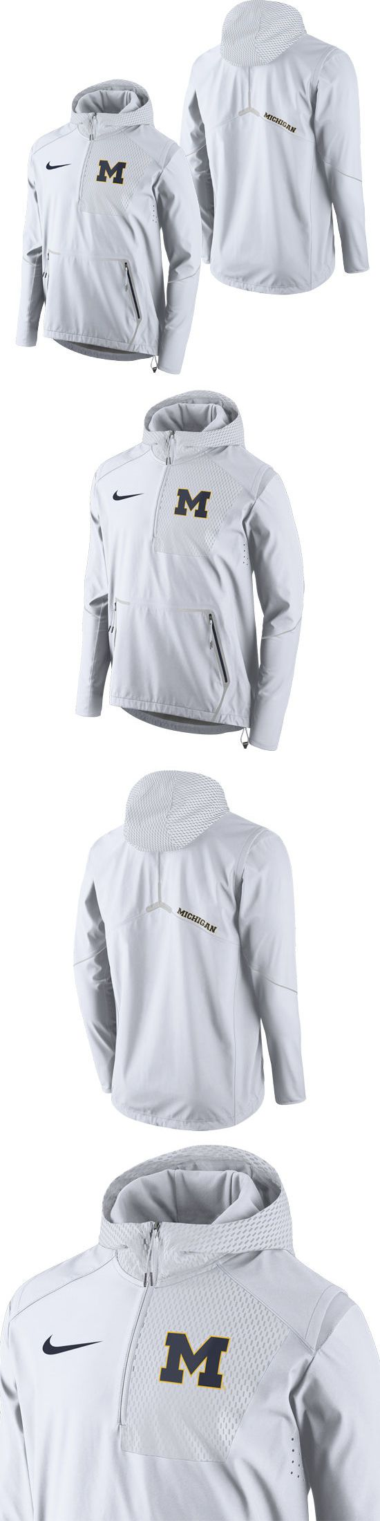 College-NCAA 24541: Nike University Of Michigan White Speed Fly Rush Flash Half Zip Jacket Nwt New! -> BUY IT NOW ONLY: $94.95 on eBay!