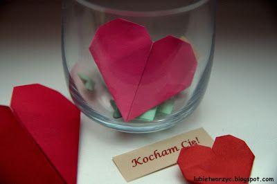 Serduszko origami ;)    #serce #serduszko #serceorigami #origami #heart #origamiheart #Walentynki #ValentinesDay #sposobwykonania #DIY #jakzrobic #instrukcja #howto #handmade #papercraft #instruction #lubietworzyc