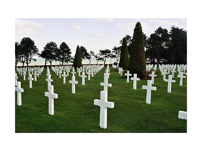 American Cemetery Colleville/Saint-Laurent-sur-Mer  .... So many men lost.