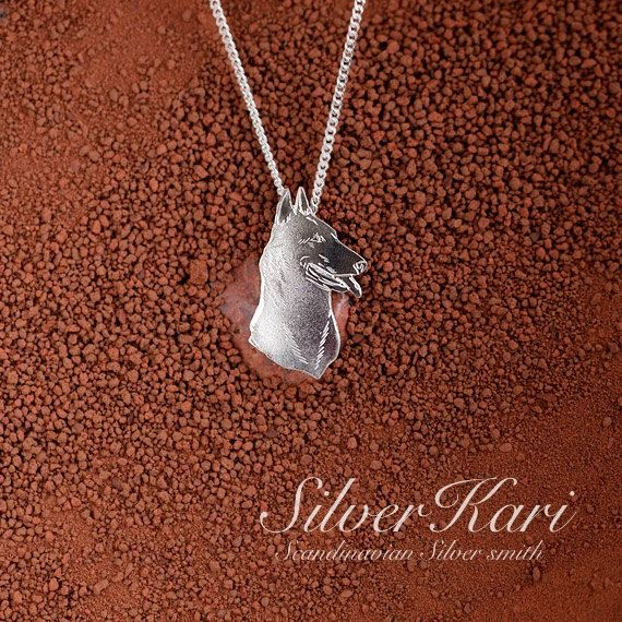 Malinois, necklace with pendant in sterling silver