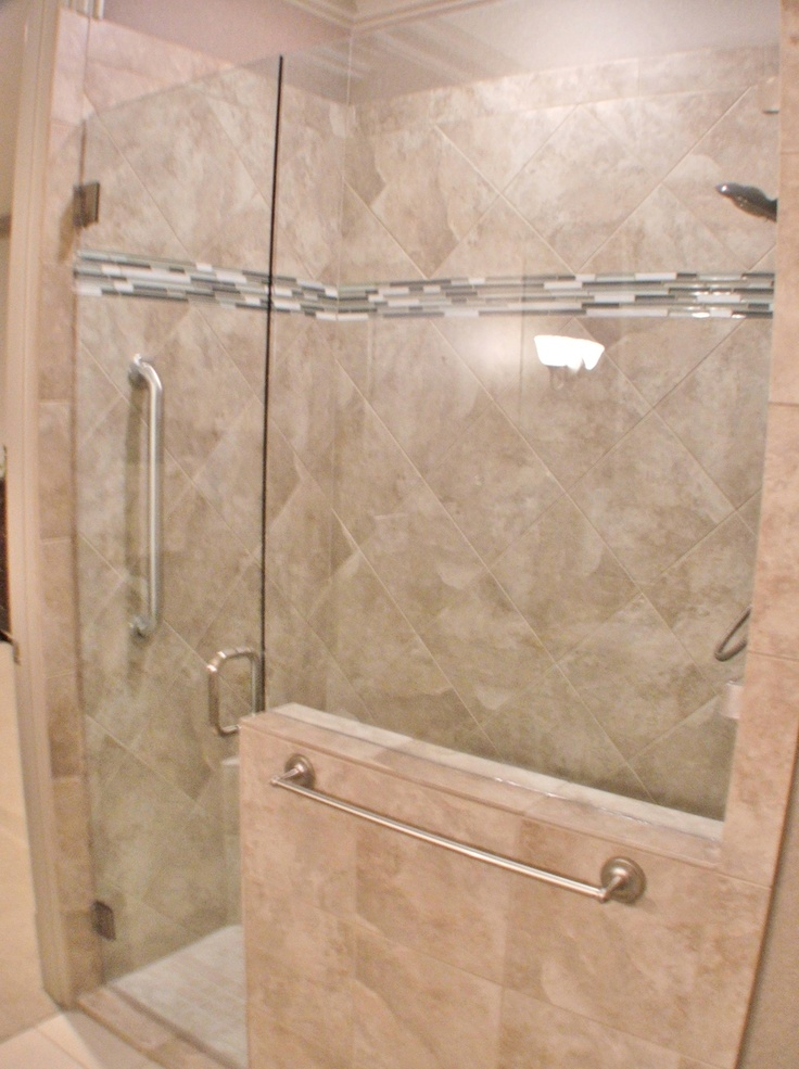 Handicap accessible shower joyce pinterest for How to build a wheelchair accessible shower