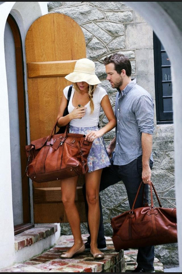 Cute couple. Blake Lively and Ryan Reynolds on their honeymoon. Love the people and the outfits