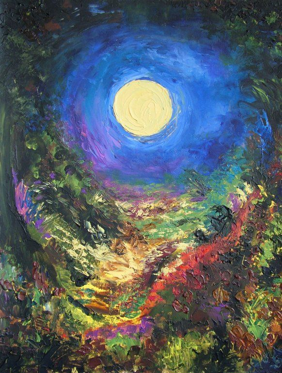 "Susana Maxelon; Oil, ""Moon"""