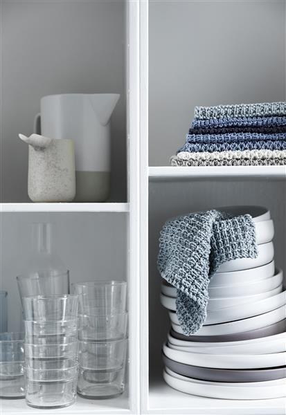 T44: Design 4 Klut med strukturmønster #bomull #cotton #strikk #knit #klut #washing