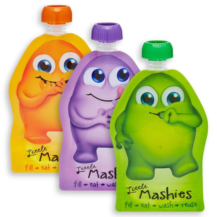 Little Mashies Reuseable food pouch 140ml (pack of 10)