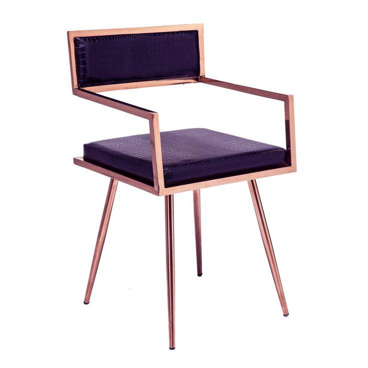 Jazz Armchair in Black & Gold | Retro Style