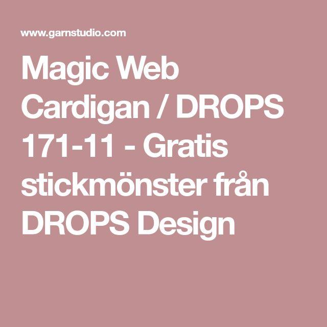 Magic Web Cardigan / DROPS 171-11 - Gratis stickmönster från DROPS Design