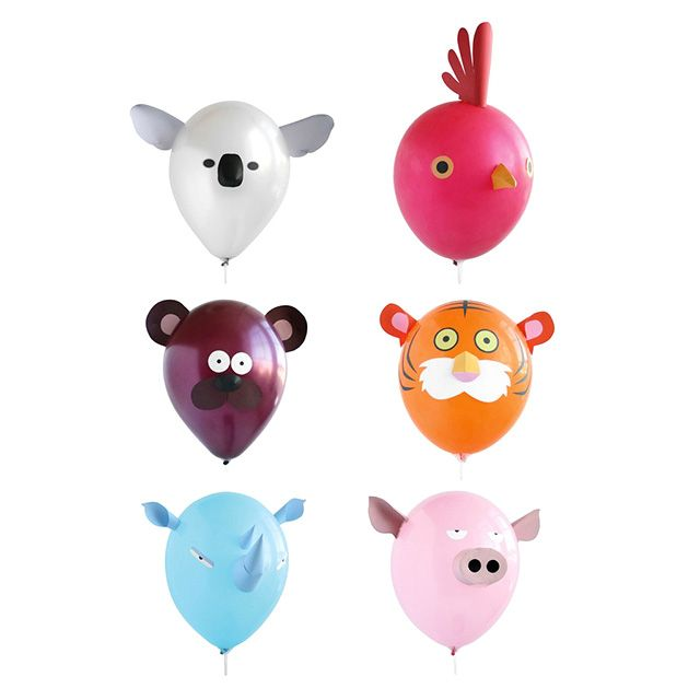 Animal balloons don't have to be tied from long balloons anymore - these animal head balloons are a game changer for parties!